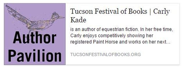 Equestrian Author Carly Kade attends the Tucson Festival of Books