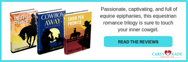 In the Reins, Cowboy Away, and Show Pen Promise Horse Books by Carly Kade