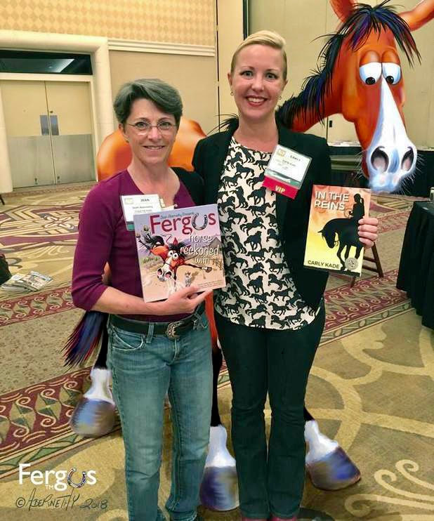 Horse Book Authors Jean Abernethy, Carly Kade and Fergus the Horse
