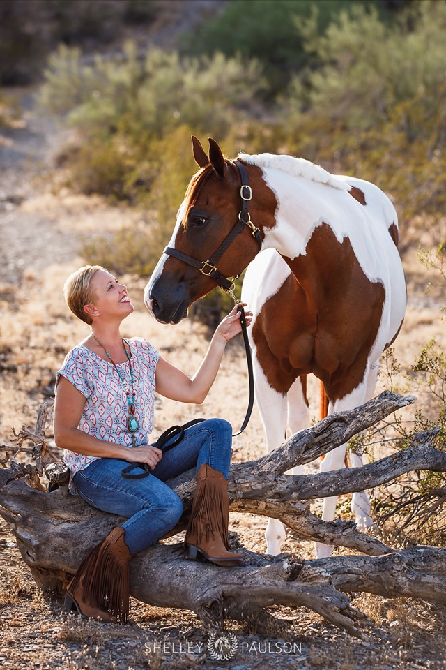 Carly Kade and her horse Sissy photographed by Shelley Paulson Photography
