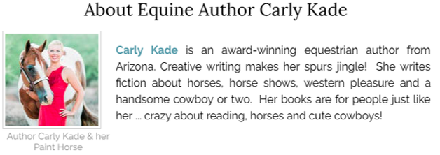 Carly Kade is an author of Cowboy Romance Books