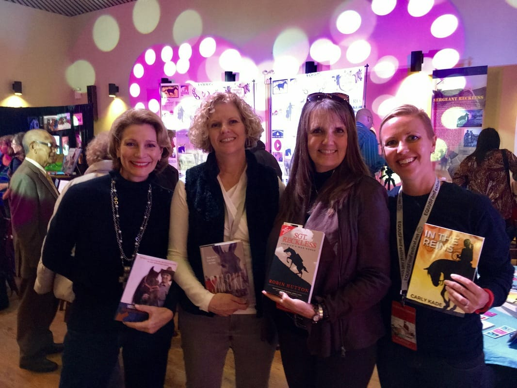 Authors Debbie Loucks-Roberts, Cate Folsom, Robin Hutton and Carly Kade at the EQUUS Film Festival