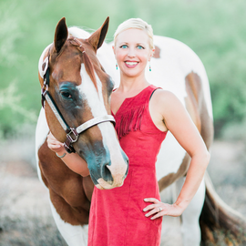 Equine Author Carly Kade and her Paint Horse