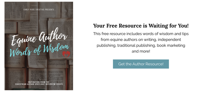 Marketing tools, tips and resources from horse book authors