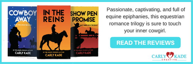 Horse Books by Carly Kade In the Reins, Cowboy Away, Show Pen Promise