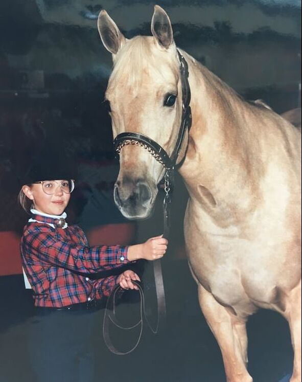 Author Carly Kade and her Childhood Horse
