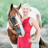 Equestrian Author Carly Kade and her Paint Horse