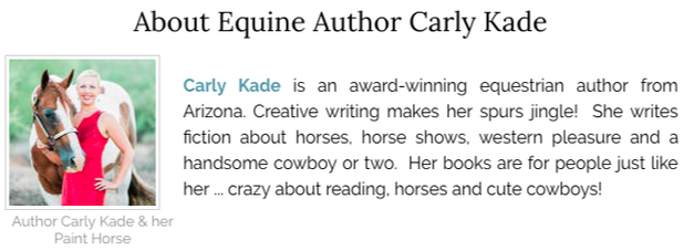 About Equine Author Carly Kade of the In the Reins Horse Book Series