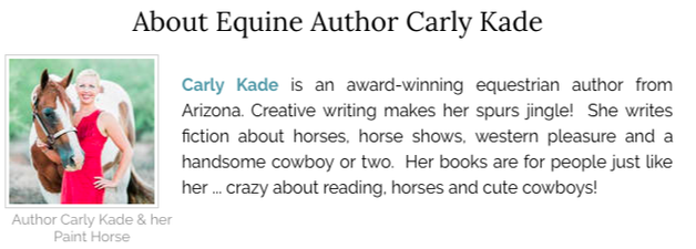 Carly Kade is the Author of the In the Reins Horse Book Series