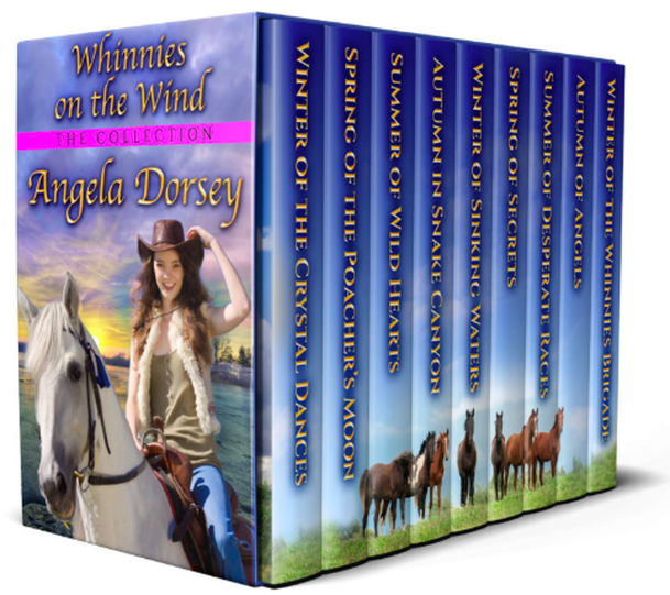 The Whinnies on the Wind horse book series by Angela Dorsey
