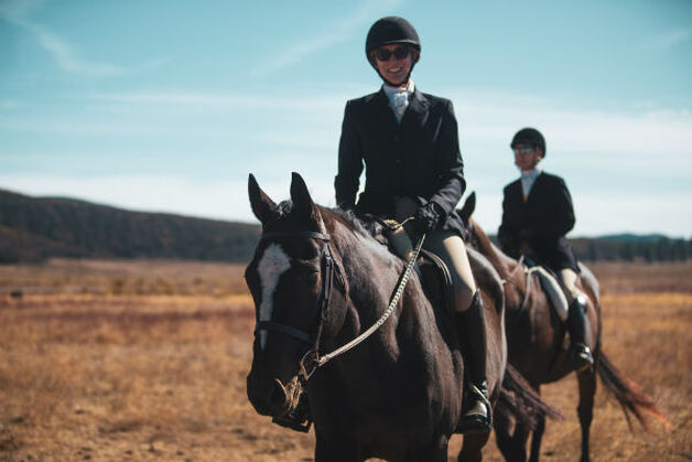 Susan Friedland of Saddle Seeks Horse Riding her Horse Knight and OTTB
