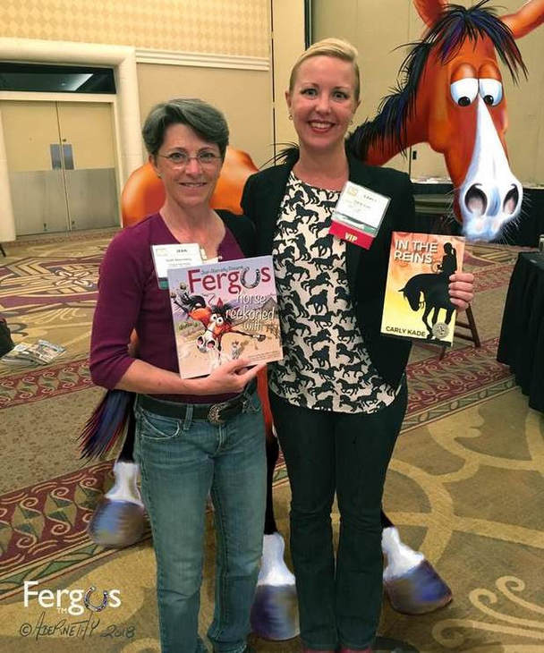 Jean Abernethy of Fergus the Horse & Carly Kade Author of In the Reins