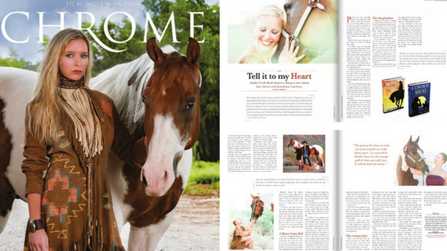 APHA Chrome Magazine features Equine Author Carly Kade