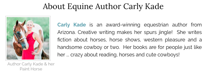 Equine Author Carly Kade of the In the Reins Equestrian Romance Horse Book Series