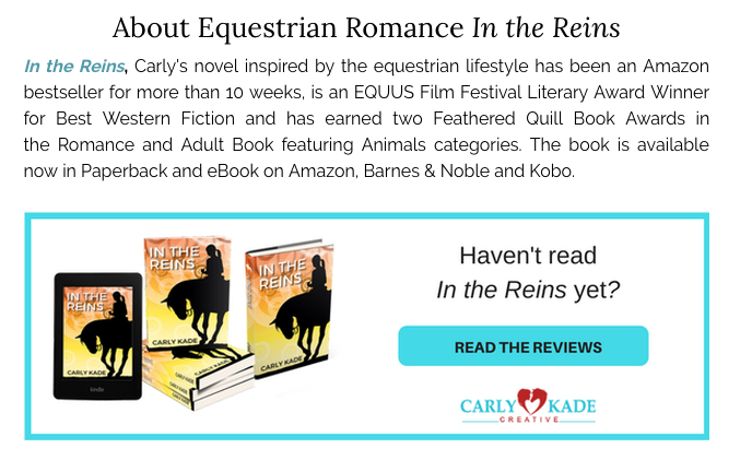 About the In the Reins Equestrian Romance Horse Book Series by Carly Kade