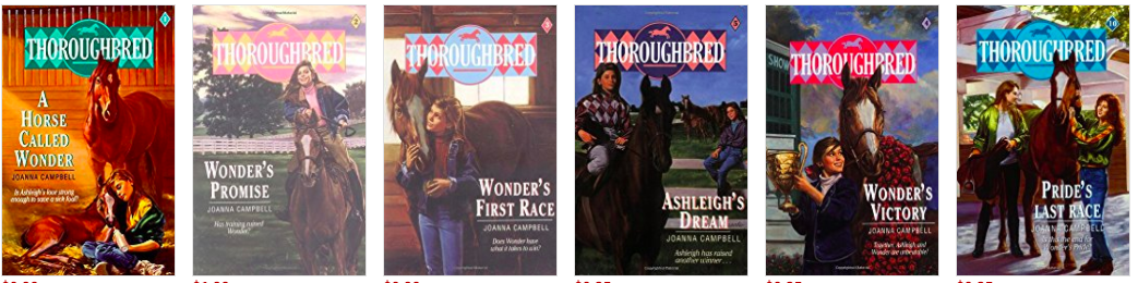 Thoroughbred Horse Book Series by Joanna Campbell